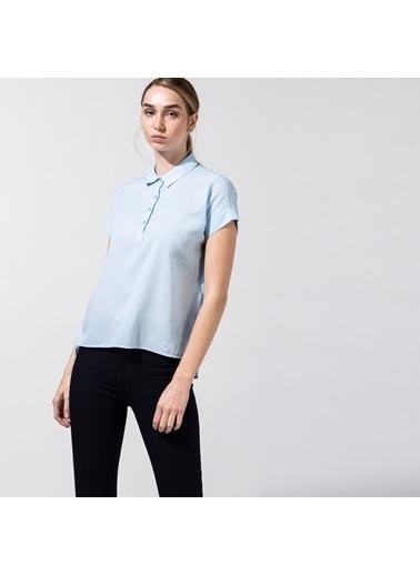 Nautica 15W412T.4T4 Nautıca Kadın Mavi Kısa Kollu Gömlek Mavi